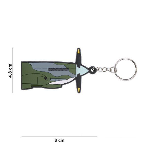, Sleutelhanger 3D PVC Spitfire #108, deDump.nl