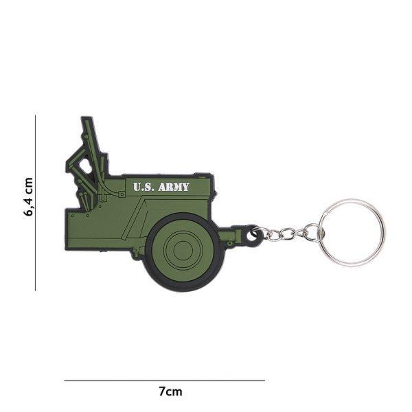 , Sleutelhanger 3D PVC Jeep U.S. Army #105, deDump.nl