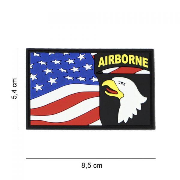 , Embleem 3D PVC 101st Airborne vlag #7087, deDump.nl