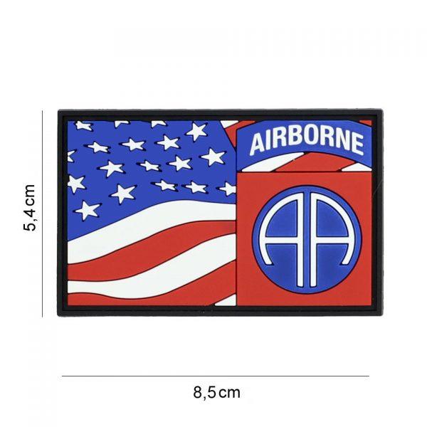 , Embleem 3D PVC 82nd Airborne vlag #7088, deDump.nl