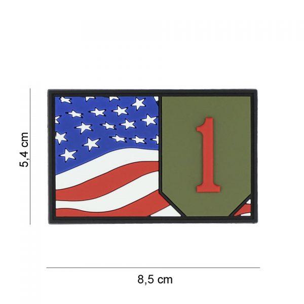 , Embleem 3D PVC 1st Infantry vlag #7089, deDump.nl