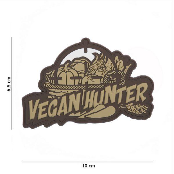 , Embleem 3D PVC Vegan Hunter coyote #8082, deDump.nl