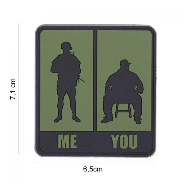 , Embleem 3D PVC Me & You groen #8088, deDump.nl