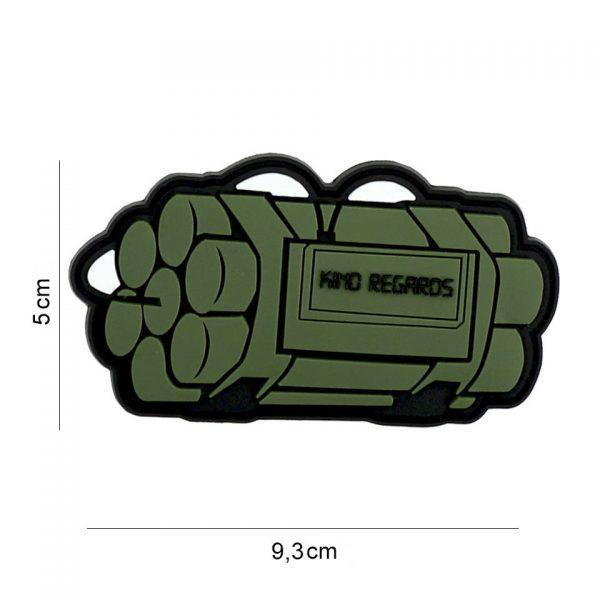 , Embleem 3D PVC Kind regards groen #8133, deDump.nl